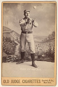 Foster, Center Field, New York, from the series Old Judge Cigarettes