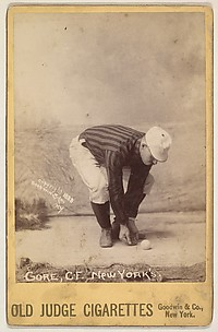Gore, Center Field, New York, from the series Old Judge Cigarettes