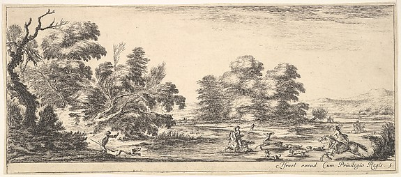 Stag Hunt, from Divers paysages