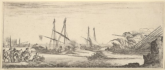 Naval Battle, from Divers paysages