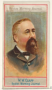 W.W. Clapp, Boston Morning Journal, from the American Editors series (N1) for Allen & Ginter Cigarettes Brands