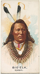 Big Elk, Ponca, from the American Indian Chiefs series (N2) for Allen & Ginter Cigarettes Brands