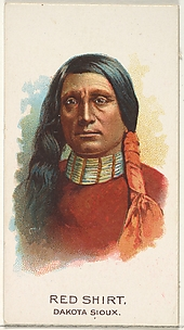 Red Shirt, Dakota Sioux, from the American Indian Chiefs series (N2) for Allen & Ginter Cigarettes Brands