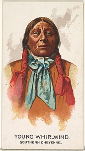 Young Whirlwind, Southern Cheyenne, from the American Indian Chiefs series (N2) for Allen & Ginter Cigarettes Brands