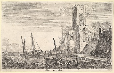 View of a Part of Calais (Veue d'un coin de Calai), from Views of Seaports (Vues de ports de mar)