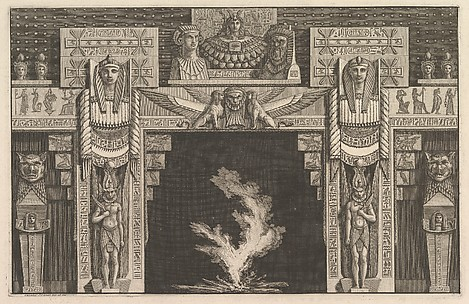 Chimneypiece in the Egyptian style, from Diverse Maniere d'adornare i cammini (...) (Different Ways of ornamenting chimneypieces and all other parts of houses)