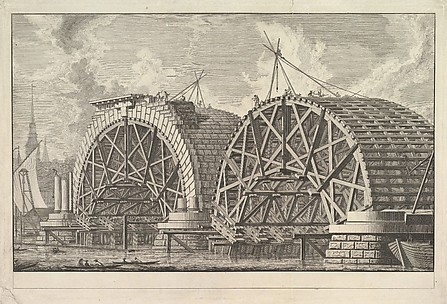A view of part of the intended Bridge at Blackfriars, London