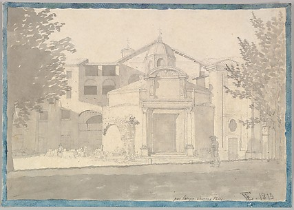 A Section of the Via Sacra, Rome (The Church of Saints Cosmas and Damian)