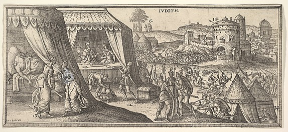 Judith, illustration to Hendrik Jansen van Barrefelt, called Hiel, Biblesche figuren ofte afbeeldingen...