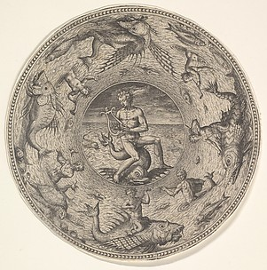 Arion Riding on His Dolphin, from Designs for Circular Plates with Sea-gods