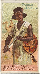 Nubian Sword, from the Arms of All Nations series (N3) for Allen & Ginter Cigarettes Brands