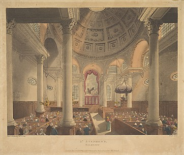 St. Stephen's Walbrook, from The Microcosm of London