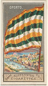 Oporto, from the City Flags series (N6) for Allen & Ginter Cigarettes Brands