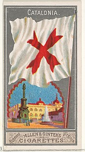 Catalonia, from the City Flags series (N6) for Allen & Ginter Cigarettes Brands