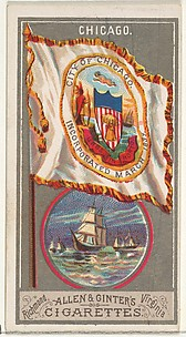 Chicago, from the City Flags series (N6) for Allen & Ginter Cigarettes Brands
