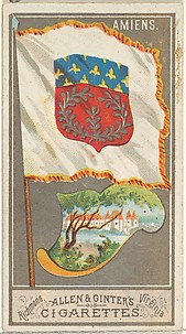 Amiens, from the City Flags series (N6) for Allen & Ginter Cigarettes Brands
