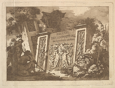 Frontispiece, from Recueil de Compositions par Lagrenée Le Jeune (Collection of Compositions by Lagrenée the Younger)
