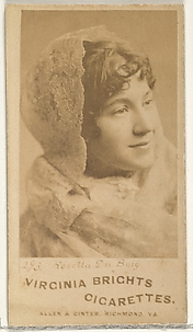 Card 293, Rosetta du Buig, from the Actors and Actresses series (N45, Type 1) for Virginia Brights Cigarettes