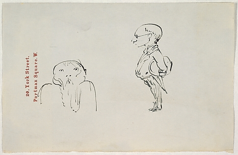 Caricature of Two Men