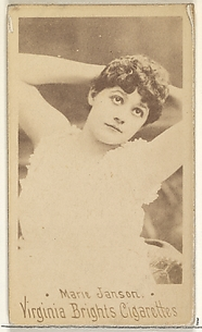 Marie Janson, from the Actors and Actresses series (N45, Type 1) for Virginia Brights Cigarettes