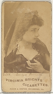 Card 288, Evelyn Granville, from the Actors and Actresses series (N45, Type 1) for Virginia Brights Cigarettes