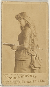 Card 576, Cora Loomis, from the Actors and Actresses series (N45, Type 1) for Virginia Brights Cigarettes
