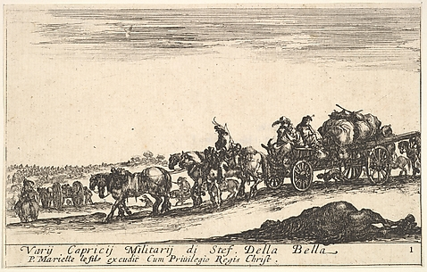 Procession of the Supplies of an Army, from Various Military Caprices (Varii capricci militari), plate 1