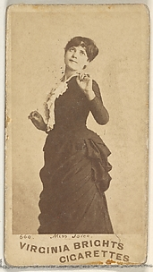 Card 660, Miss Joice, from the Actors and Actresses series (N45, Type 1) for Virginia Brights Cigarettes