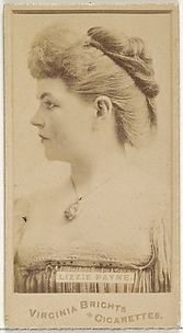 Lizzie Payne, from the Actors and Actresses series (N45, Type 1) for Virginia Brights Cigarettes