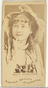 Mary Severance, from the Actors and Actresses series (N45, Type 1) for Virginia Brights Cigarettes