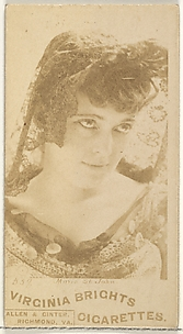 Card 559, Marie St. John, from the Actors and Actresses series (N45, Type 1) for Virginia Brights Cigarettes