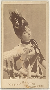 Frulein Zimmermann, from the Actors and Actresses series (N45, Type 1) for Virginia Brights Cigarettes