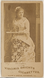 Card 407, Gerster, from the Actors and Actresses series (N45, Type 1) for Virginia Brights Cigarettes