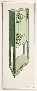 Design for a Cabinet for The Living Room and the Hall (The Ladies' Home Journal, XIX, March 1902)