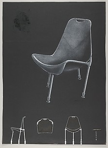 Design for a Fiberglass Reinforced Plastic Chair, for 'There's a Science to Seating' in the Journal 'Modern Plastics'