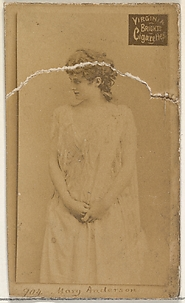 Card 904, Mary Anderson, from the Actors and Actresses series (N45, Type 2) for Virginia Brights Cigarettes