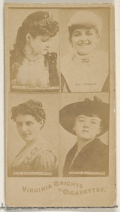 Laura Curtis, Corsair Co./ May Robson/ Miss Estelle Clinton/ Fannie Batchelder, from the Actors and Actresses series (N45, Type 4) for Virginia Brights Cigarettes