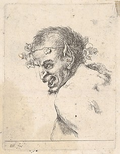 Bust of a Laughing Satyr, from Collection of Diverse Parts Serving the Art of Portraiture (Recueil de diverses pièces servant à l'art de portraiture), plate 29