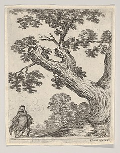 Landscape, from Various Figures and Doodles (Diverses figures et griffonnemens), plate 18