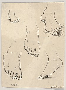 Five Feet, from The Book for Learning to Draw (Livre pour apprendre à dessiner), plate 7