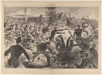The War for the Union, 1862 – A Bayonet Charge (from Harper's Weekly, Vol. VII)