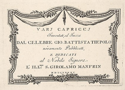 Title page, from Varj Carpiccj