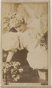 Dorothy Morton, from the Actors and Actresses series (N45, Type 8) for Virginia Brights Cigarettes