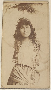 Miss Rivers, from the Actors and Actresses series (N45, Type 8) for Virginia Brights Cigarettes