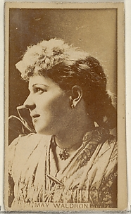 May Waldron, from the Actors and Actresses series (N45, Type 8) for Virginia Brights Cigarettes
