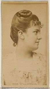 Miss Williamson, from the Actors and Actresses series (N45, Type 8) for Virginia Brights Cigarettes