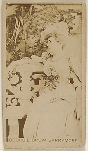Georgie Drew Barrymore, from the Actors and Actresses series (N45, Type 8) for Virginia Brights Cigarettes