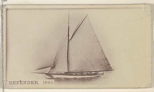 Defender, 1895, from the Famous Ships series (N50) for Virginia Brights Cigarettes