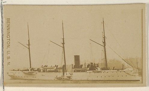 Bennington, U.S.N., from the Famous Ships series (N50) for Virginia Brights Cigarettes
