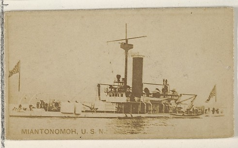 Miantonomoh, U.S.N., from the Famous Ships series (N50) for Virginia Brights Cigarettes